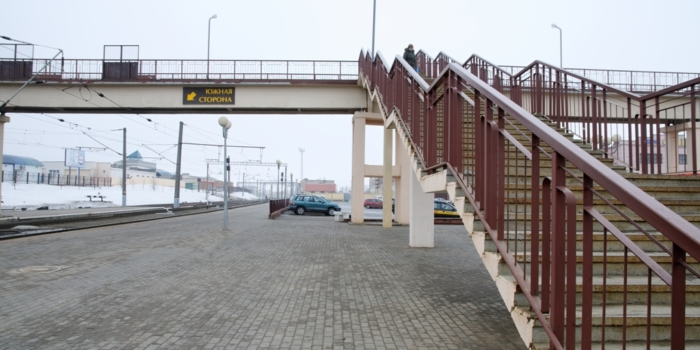 пешеходный мост в Орше
